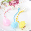 Flower And Simulated Pearl Elastic Headband Hair Rubber For Women Hair Accessories Chiffon Floral Rope Ornaments