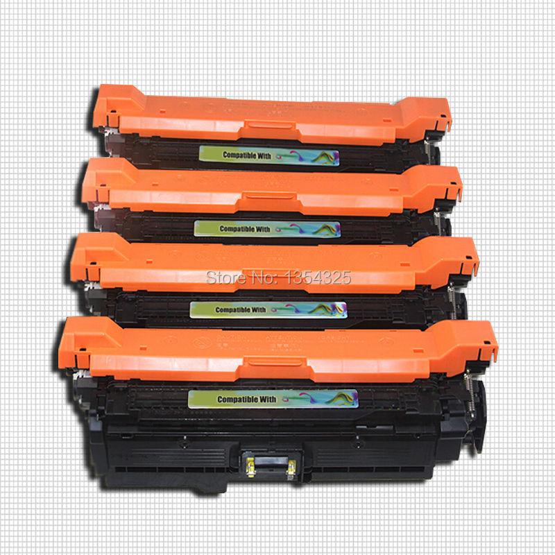 4PC Lot Compatible For HP LaserJet CM3530FS toner cartridge For HP 504A CE250A CE251A CE252A CE253A
