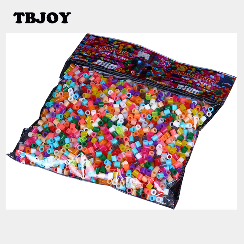 1000Pcs/Set 3D Colorful 5MM Hama Fuse Beads Green Plastic Beans Jigsaw Puzzles Kids Toys for Children Educational Game Gifts(China (Mainland))