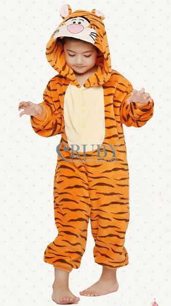 Unisex Children's Fashion Onesies Cosplay Costumes Animal Pajamas Christmas Gift Kids Cartoon Cute Pyjamas,Jumping Tiger - RUBY TOP 2 store