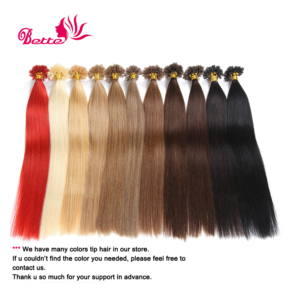 18 20 22 24 100g Italian keratin Nail Tip U tip hair extensions 0.5g/s 100% Brazilian Remy Hair black brown blond in stock<br><br>Aliexpress