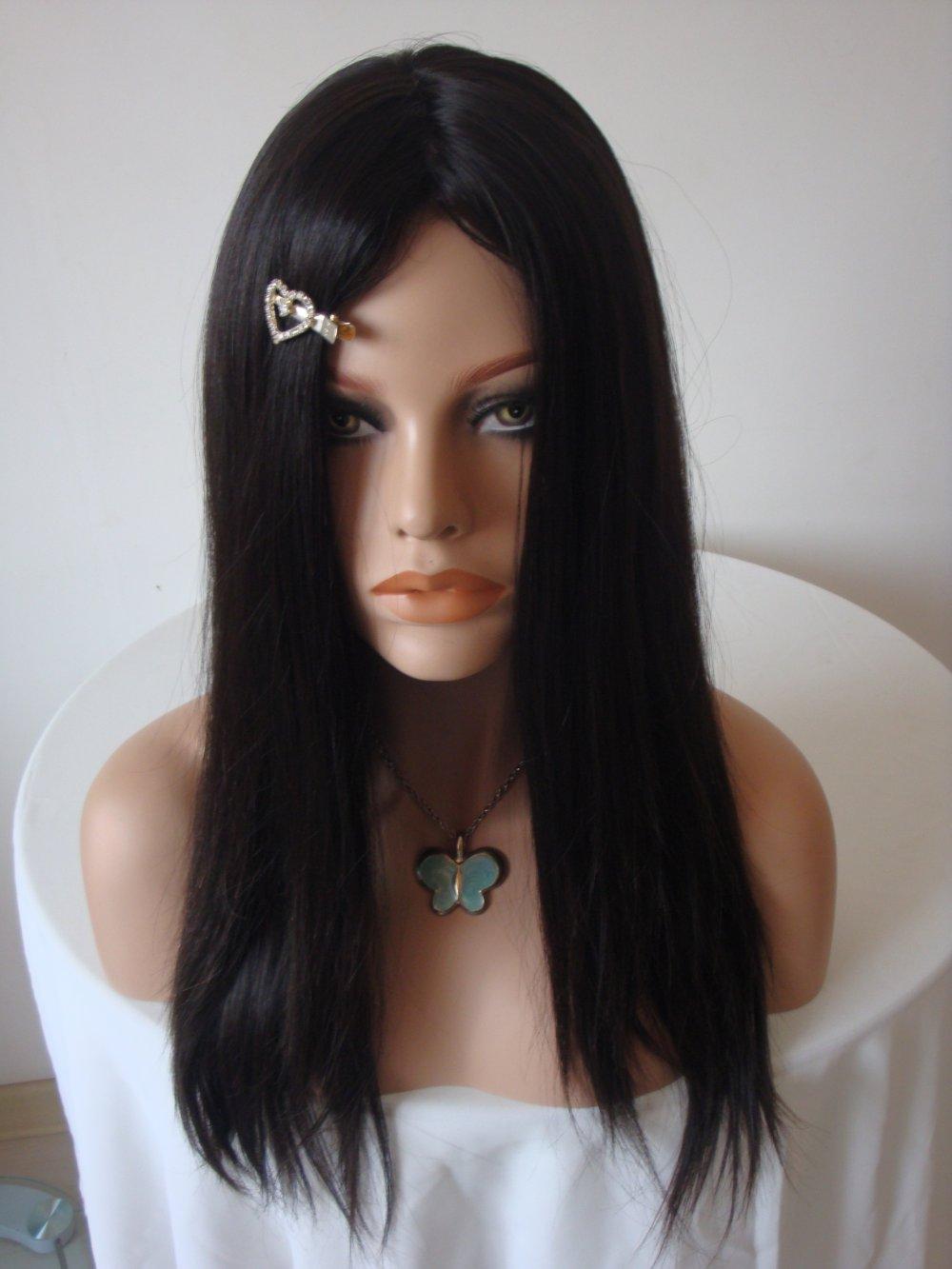 White Girl Human Hair Wigs 80