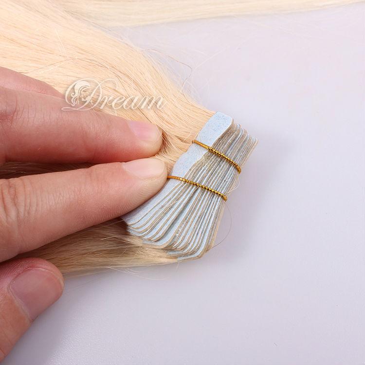 PU Skin Weft Tape Hair Extensions Brazilian Virgin Hair Straight Tape In Human Hair Extensions 18 inch 613# Straight<br><br>Aliexpress