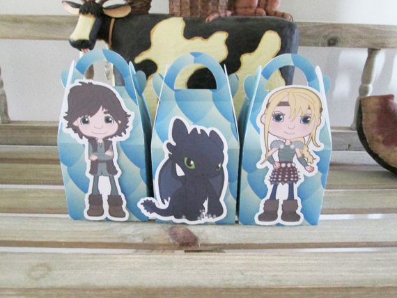 How To Train Your Dragon Favor Box Candy Box Gift Box Cupcake Box Boy Kids Birthday Party Supplies Decoration Event Party(China (Mainland))