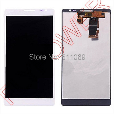 For Huawei Ascend mate MT1-U06 LCD Screen Digitizer with Touch Screen Digitizer Assembly by free shipping; White color; HQ