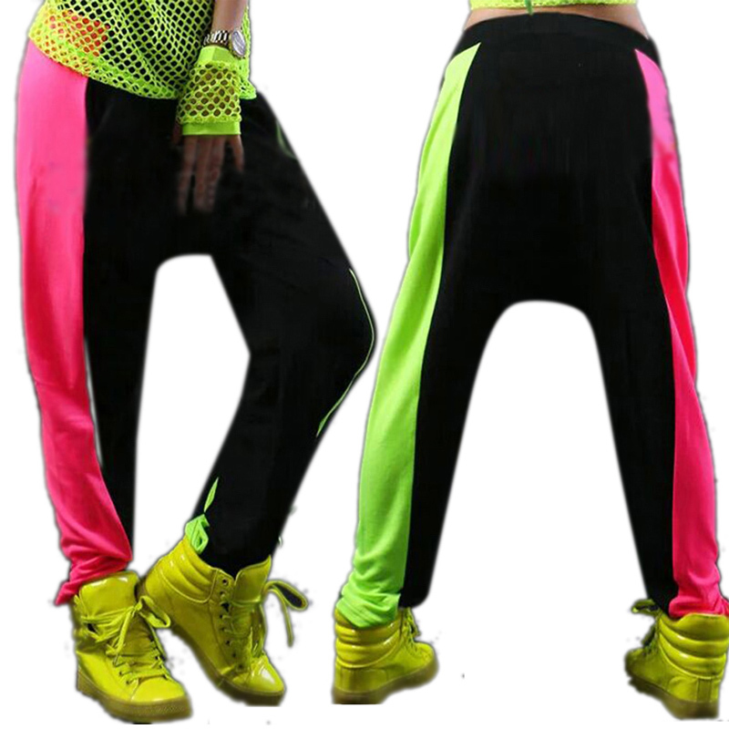 Women <font><b>Men</b></font> Unisex Neon <font><b>Harem</b></font> Baggy Hip Hop <font><b>Dance</b></font> <font><b>Sport</b></font> Sweat <font><b>Pants</b></font> <font><b>Trousers</b></font> Slacks <font><b>2</b></font> Colors Y18 YL3