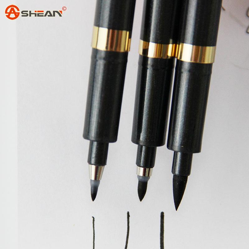 3 pcs Japonês Chinês Pincel de Caligrafia Caneta Neutro Multi-Função Caneta Escola Escritório Escrita Ferramentas(China (Mainland))
