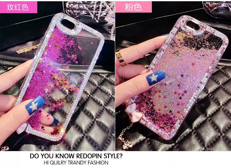 New Bling Color quicksand Diamond Phone case For iPhone 6 4.7 inch quicksand glitter Design Cover plastic protection Case(China (Mainland))