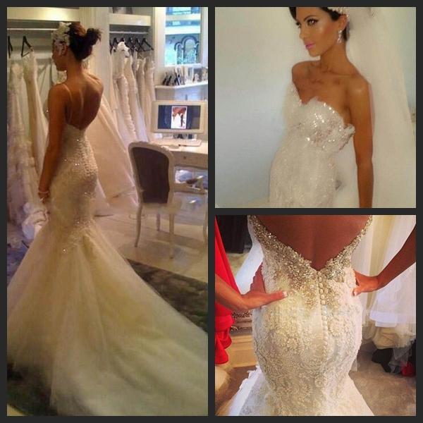 Fully beaded wedding dress mermaid sweetheart lace applique bride dresses gowns vestido de noiva sereia rendas - Original Dresses Factory Online store