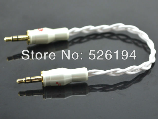 Free shipping High Performance 3.5mm to 3.5mm Mini Stereo Line Out Cable with pailccs 3.5mm banana plug(China (Mainland))