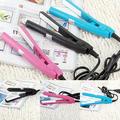 Hot item US Plug Mini Travel Ceramic Hair Crimper Curl Straightener Flats Iron Perm Splint
