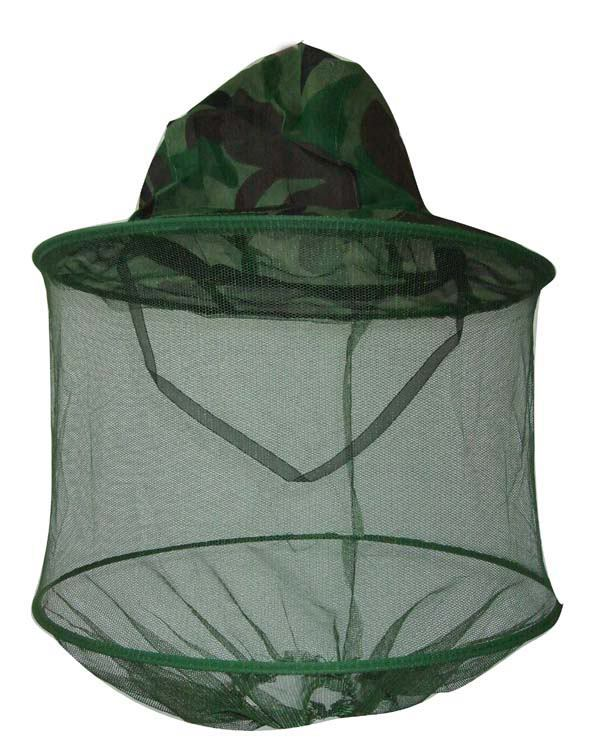 New anti mosquito hat camouflage mosquito hat with head for Mesh fishing hats