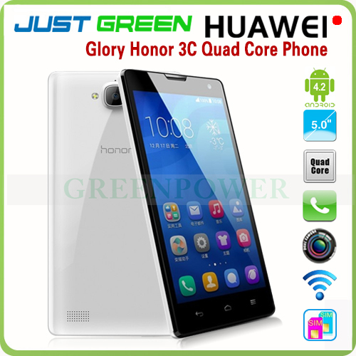 "Original 5"" 1280x720 Huawei Honor 3C H30-U10 Android 4.2 Mobile Phone MT6582 Quad Core 2GB 8GB TFT Screen 1280*720 3G GPS(China (Mainland))"