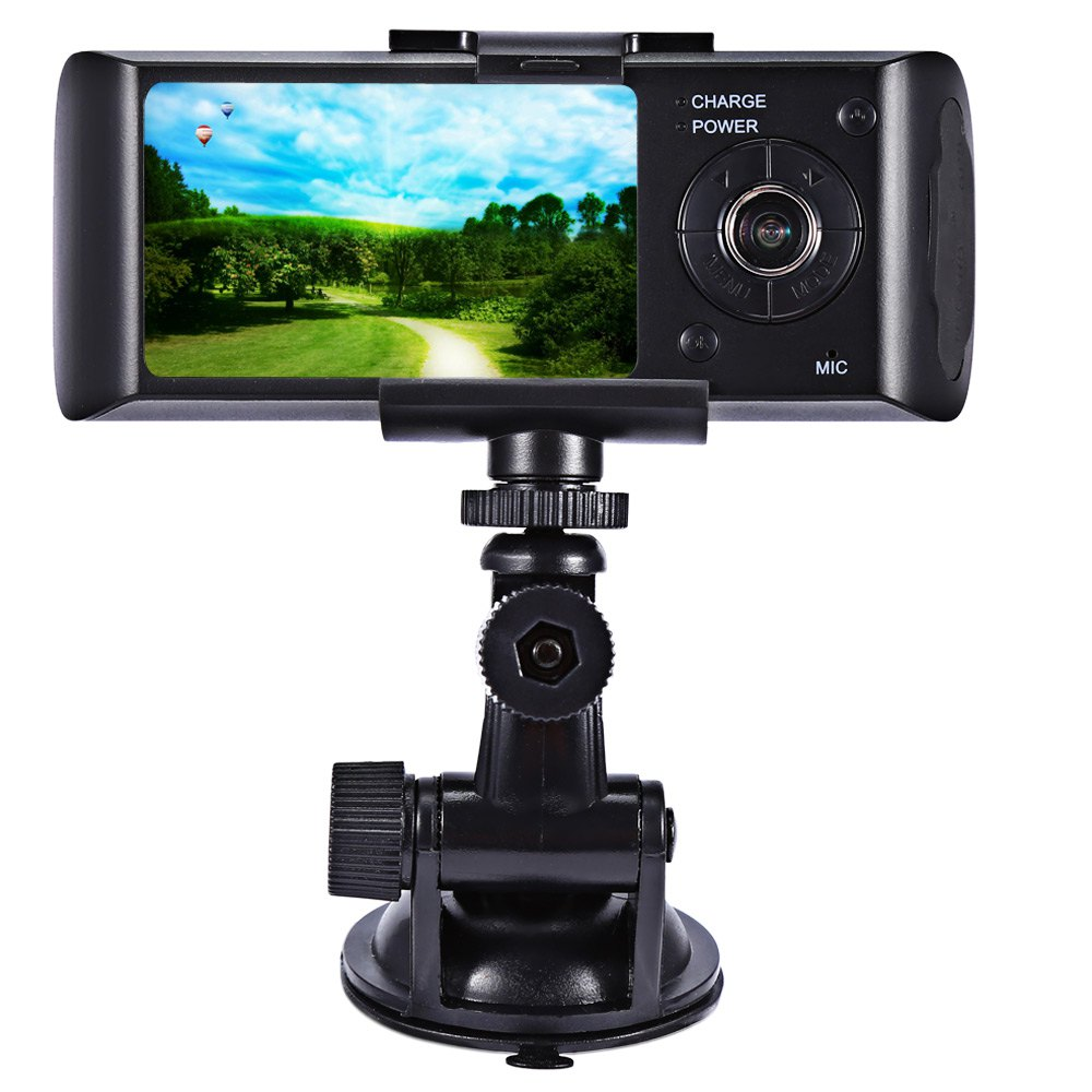 "Dual Camera Car DVR with GPS Positioning and 3D G-Sensor 2.7"" TFT LCD FHD 1080P Cam Video Camcorder Cycle Recording Digital Zoom(China (Mainland))"