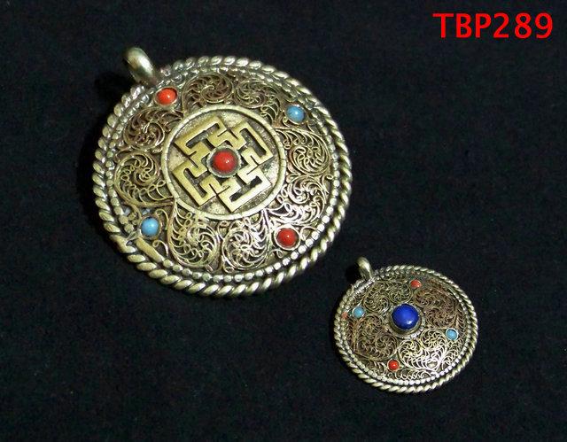 Tibet JewelryTBP289 Tibetan brass holly city amulet pendant,40mm,Nepal Handmade vintage pendants,Low MOQ(China (Mainland))
