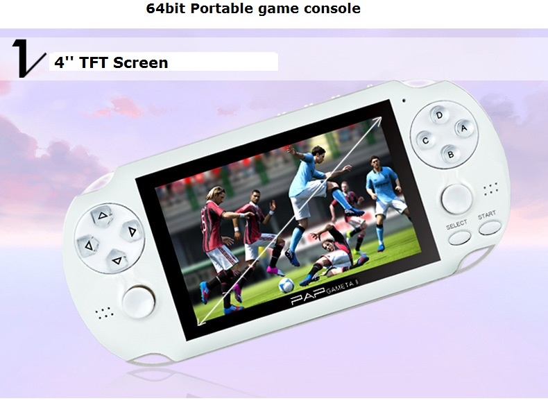 Handheld game console support wireless controller MP5 portable game console(China (Mainland))