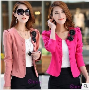 2014 autumn slim women's double breasted short design long-sleeve cardigan blazer female jacket woman coat - --fashion2113 store