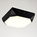 Modern 20W Led Lamp Bedroom Living Room Stair Kitchen Ceiling Light Fixtures Black White Iron Acrylic