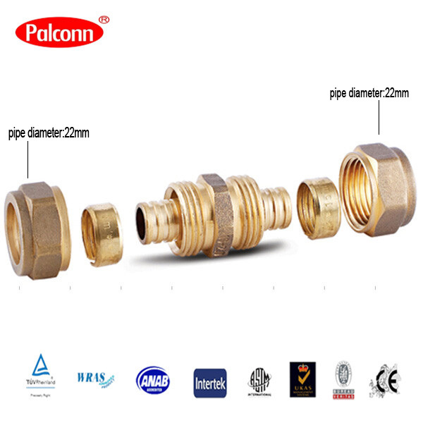2015 hot selling plastic pipe brass fitting coupling pex for Plastic water pipe pex