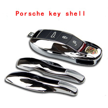 13 color chips FOB Key Case Cover modified replacement housing makan fit Porsche Cayenne 911 Boxster Cayman Panamera for