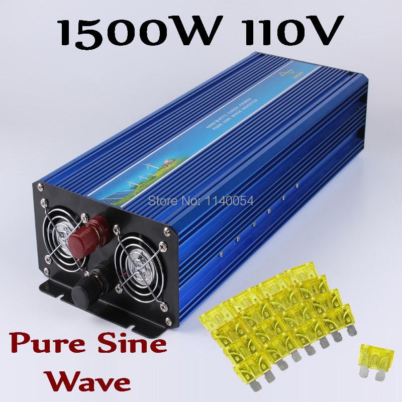 HOT SALE!! 1500W Off Grid Inverter Pure Sine Wave Inverter DC110V with 3000W Surge Power, Solar Wind Power Inverter 1500W(China (Mainland))