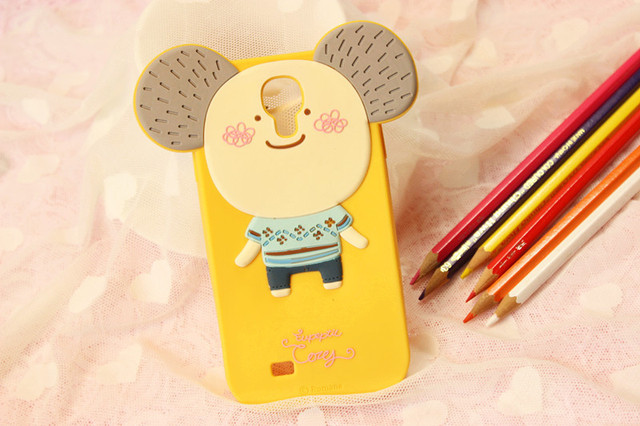 MOMO's Blog 3D Cute Cartoon Silicone Case Cover For Samsung Galaxy S4 I9500 ,retail package Free Shipping 5pcs/lot