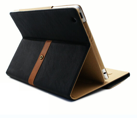 NewLuxury Button Belt Smart Stand Leather Case Cover For iPad 2/3 4Mixed colors