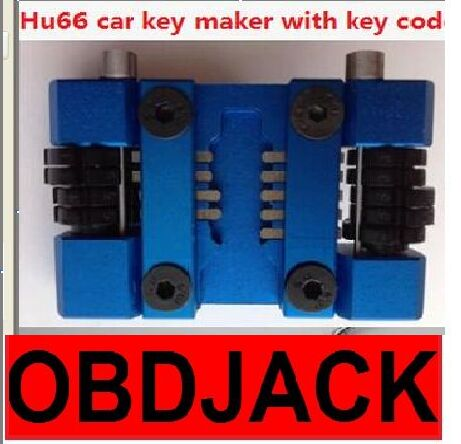 Free shipping!!!100% Original Hu66 locksmith car key maker car key tool machine + code software to do the whole lost key by hand(China (Mainland))