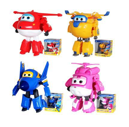 Best Sale 4PCS/1Set Big Size Super Wings Planes Deformation Airplane Robot Action Figures Transformation Toy Boy Birthday Gift(China (Mainland))
