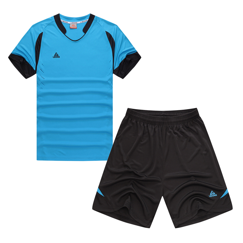 High quality Men Soccer Jersey Paintless quick dry Summer Sportswear Set Male Breathable Soccer mens Football Clothing Jersey(China (Mainland))