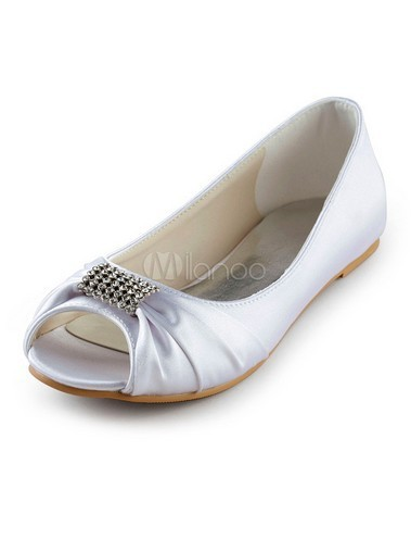 Popular Flat Peep Toe Wedding Shoes Buy Cheap Flat Peep Toe Wedding Shoes Lots From China Flat