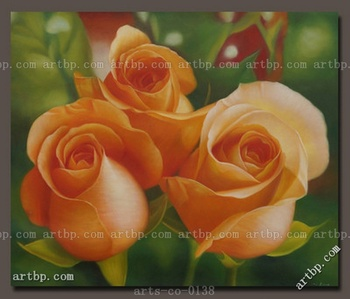 Art Contemporary Original Hand Painted Oil Painting On Canvas Rose Flower Acrylic Paint By Number Large Canvas Wall Painting L
