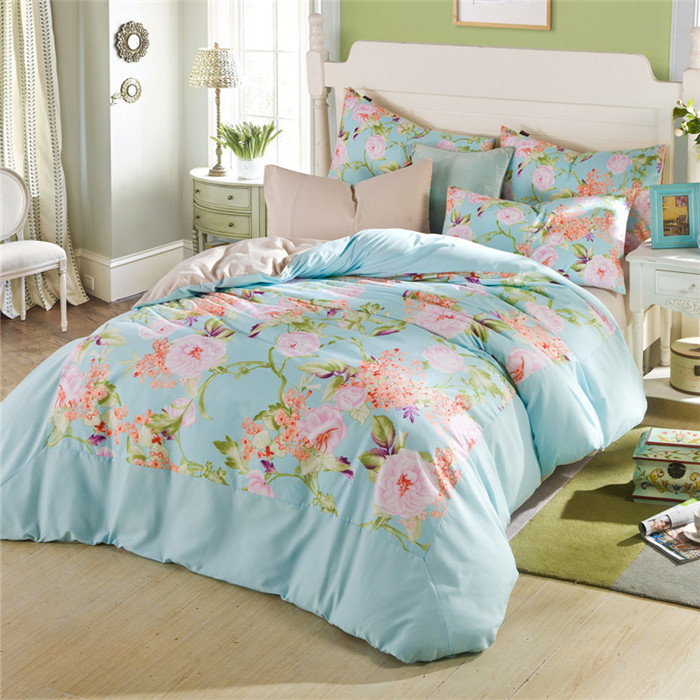 Bed sheet floral bed sheets ikea bed sheets - 2015 Wholesale Cheap Cotton Bed Sheets Bed Set Quilt Cover Set Floral