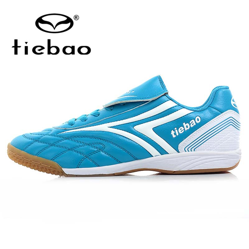 TIEBAO Professional Indoor Sport Soccer Shoes IN & IC Rubber Soles Athletic Training Sneakers Men Women Football Boots EUR 36-44(China (Mainland))