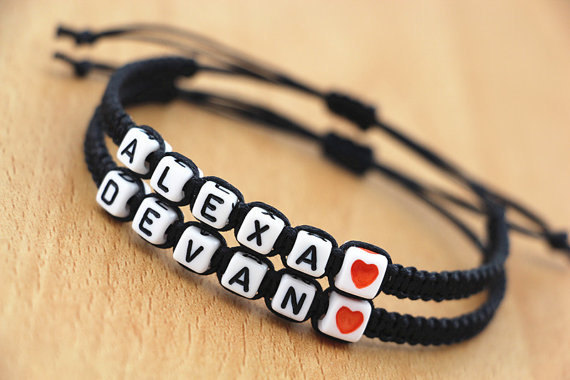 New stock  Handmade Jewellery  Lovers' Bracelet,Couples bracelet Christmas gift,Bridesmaid Jewelry, Friendship Gifts