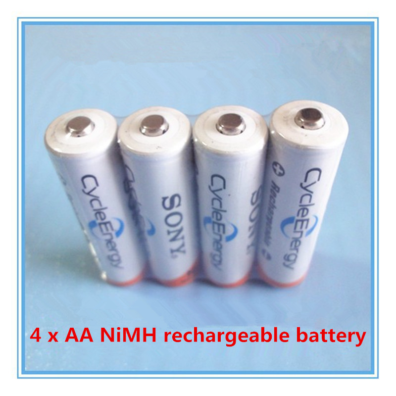 4Pcs Original New NI-MH AA HR6 2A Rechargeable Batteries 1.2V 4600 For Sony Rechargeable Battery With a box Free shipping(China (Mainland))