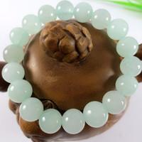 10MM Handmade White Jade Bracelet Beads Bracelets Bangles Elegant Jewelry 070