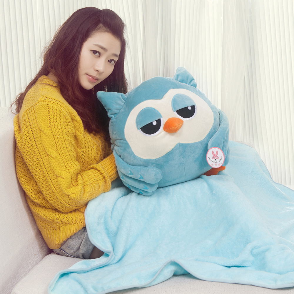 Special cute 1pc 180cm The Heirs Korean dramas owl plush air condition nap blanket doll hand warmer cushion toy novelty gift(China (Mainland))