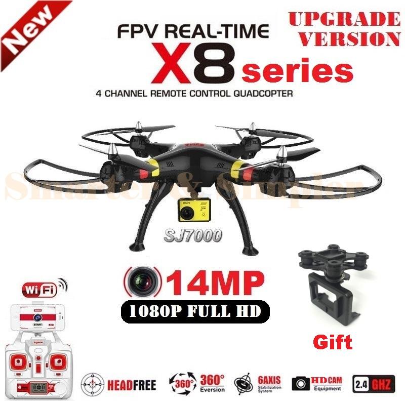 2016 New SYMA X8G X8C X8W X8 6 Axis FPV RC Quadcopter With SJ7000 14MP 1080p Full HD WiFi Camera Professional Drone(China (Mainland))