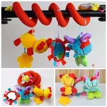 New Cute Spiral Activity Stroller Car Seat Cot Lathe Hanging Baby Play Travel Toys Newborn Baby Rattles Infant Toys(China (Mainland))