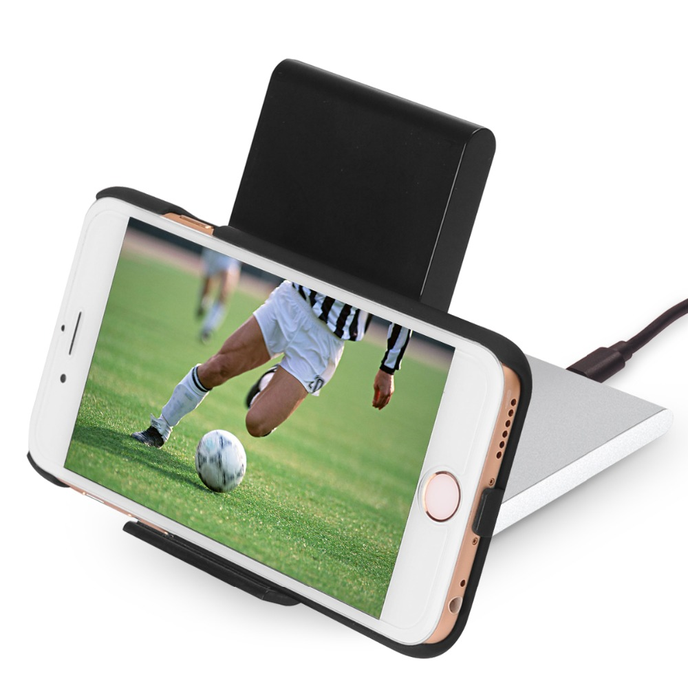 Iphone 6 And Iphone 6s Wireless Charging: 3 Coils Qi Wireless Charger Folding Charging Stand For