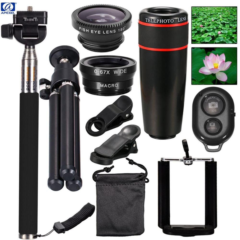 All in 1 Accessories Phone Camera Lens Top Travel Kit For