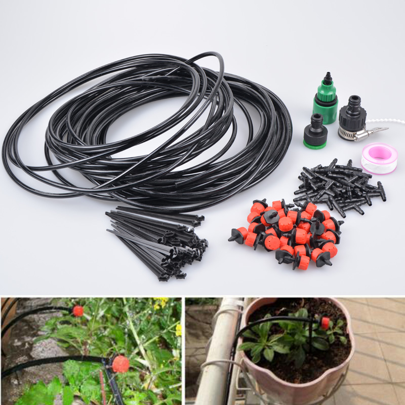 (10-25m)Mangueira Drippers Automatic Garden Watering Gardening Set Of Watering Irrigation System Lawn Garden Plants Irrigation(China (Mainland))