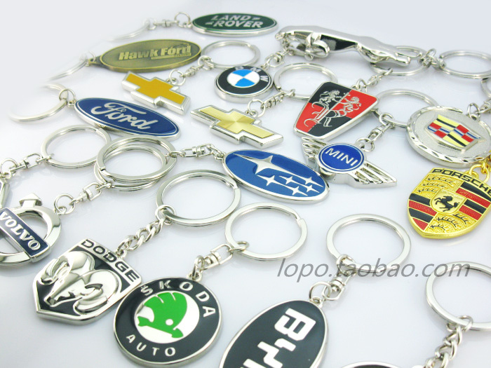 Brand Auto Car Key Rings ,Promotional Gift ,Engrave LOGO,Advertising chain, - HongKong HuaTianTechnology Ltd . store