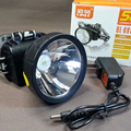 New 5 w rechargeable LED lithium battery waterproof head lantern for outdoor hunting fishing from miners