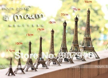 wholesale retail high 25cm metal craft arts 3D Eiffel Tower model French france souvenir paris home decoration gift desk office