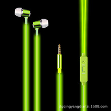 100% original colorful fashion cool flash music Led glow headphones earphone luminous headset with Stereo sound for mobile phone