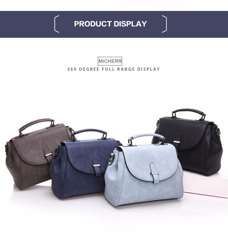Edgy Messenger Bag Korean Style 2016 Newest Flap Bag Ladies Stylish Nubuck Leather Handbag Women Classic PU Shoulder Bag