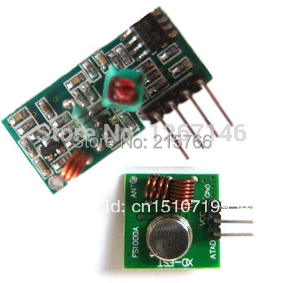 New RF Wireless Transmitter & Receiver Kit Module 433Mhz for Arduino/ARM/MCU WL Free Shipping A2111 KG6sH Ti2MW PS8HW(China (Mainland))