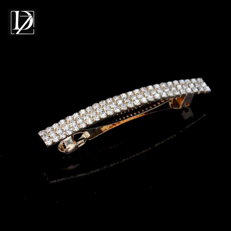 2016 Fashion Chic Full Crystal Rhinestone Hair Clip Bang Clip Hairpins Hearwear Gold Plated Wedding Hair Accessories WF360(China (Mainland))